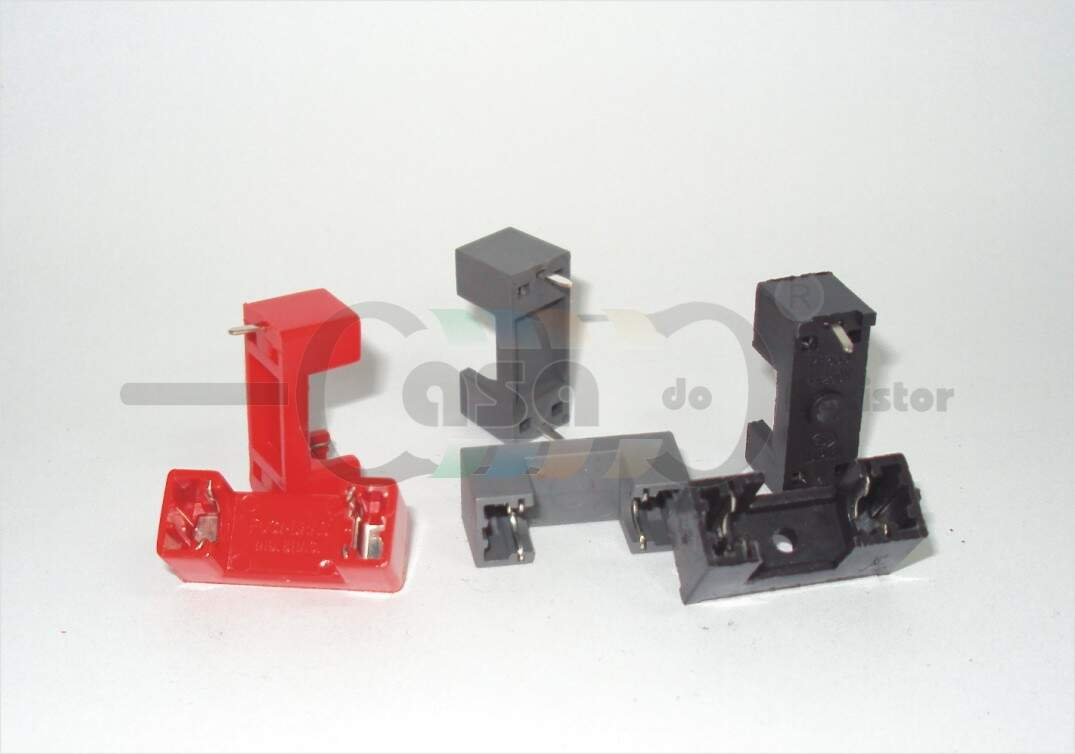 Porta Fusível horizontal - 5x20mm (PCI) (ZCFA0001)