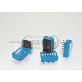 Chave Dip Switch 180° - 6 vias