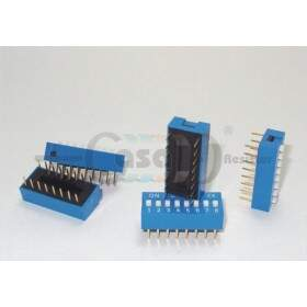 Chave Dip Switch 180° - 8 vias