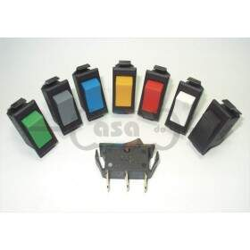 Interruptor de Tecla Unipolar 3A - terminal faston - Mr
