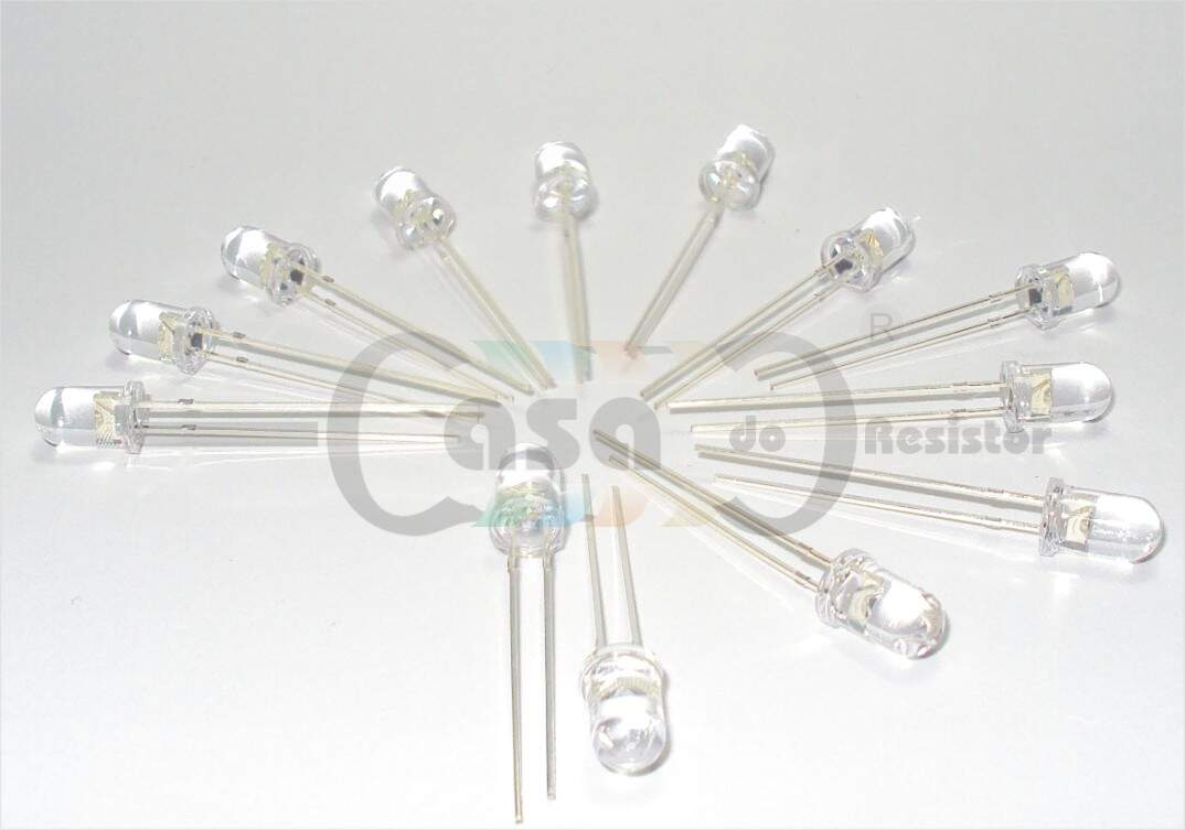 Led 5mm 605nm - 8000mcd 30° - Laranja (ZCLG0024)