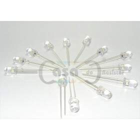 Led 5mm 605nm - 8000mcd 30° - Laranja