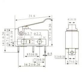 Chave Micro Switch KW11-3Z-3 5A