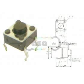 Chave Tactil KFC-A06-6X6X6 4T 180°