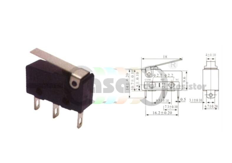 Chave micro Switch KW11-3Z-2 3 Terminais (ZVTP0033)