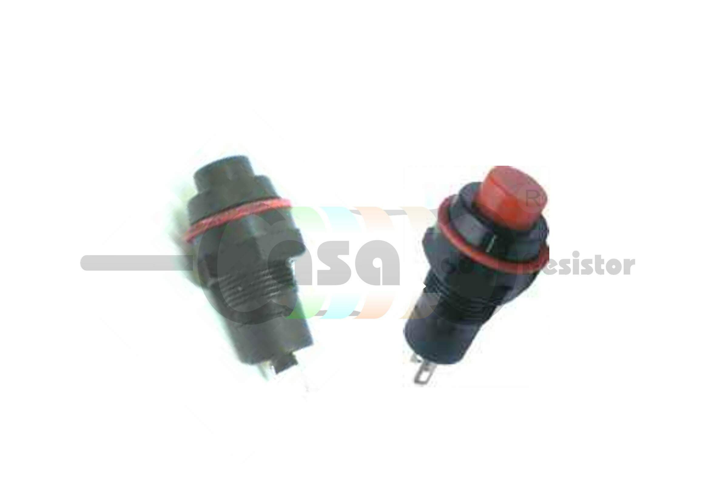 Chave push button DS-213 2T sem trava Vermelha