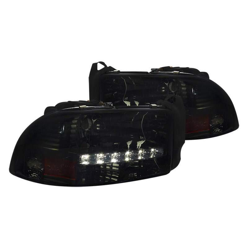 Farol Black com Led Dodge Dakota 1997 - 2002
