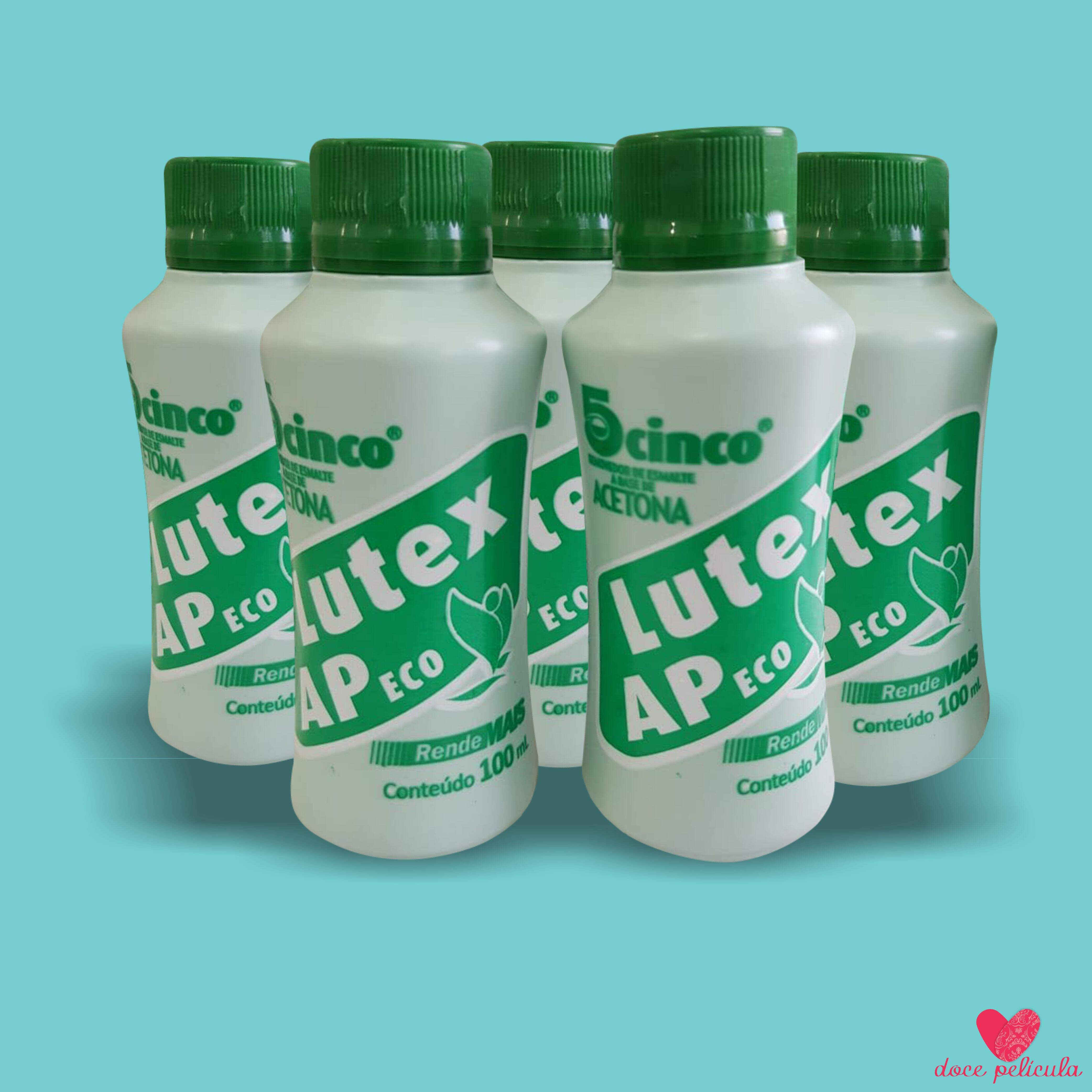 KIT COM 5 UN ACETONA LUTEX 100 ml