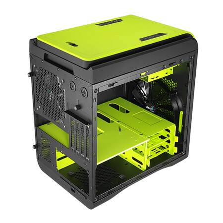 Gabinete AeroCool DS Cube Green Window Edition sem Fonte EN52544