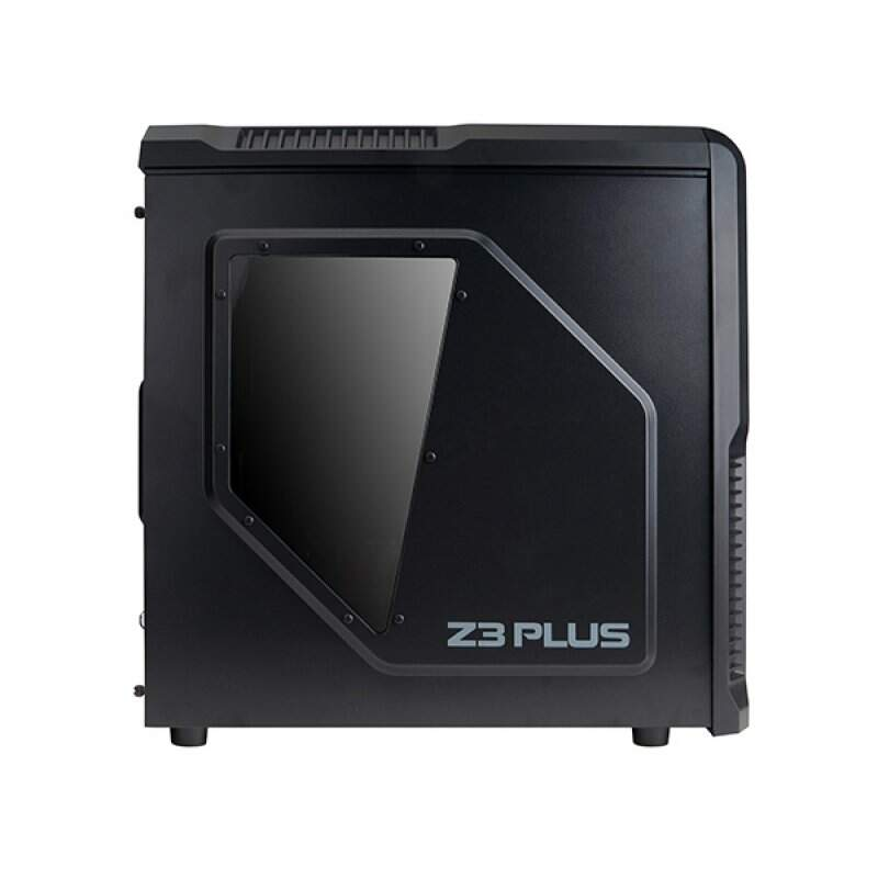 Gabinete Zalman Z3 Plus Black Mid Tower Preto