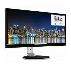 Monitor Philips LED 29´´ Brilliance MultiView, Ultra Full HD, Ultra Wide 21:9, Alto-falante embutido, DVI/HDMI(2x)/USB 3.0(4x) - 298P4QJEB