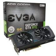 Placa de Vídeo VGA EVGA GeForce GTX970 Superclocked 4GB GDDR5 256 bit ACX 3D ready 4K Ready 2.0 PCI-Express 3.0 04G-P4-2974-KR