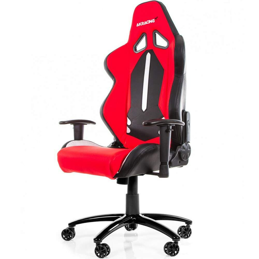 Cadeira Gamer AKRacing Limited Edition ML-1168 Black White Red