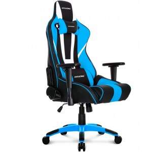 Cadeira Gamer AKRacing XTRA BIGGER CP-8 Black White Blue (10262-1)