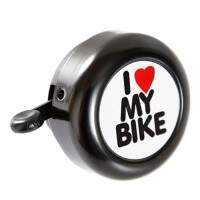 CAMPAINHA I LOVE MY BIKE PRETO - ISP