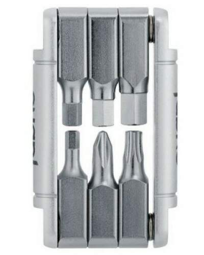KIT FERRAMENTA FABRIC 6 IN1 MINI TOOL PRATA
