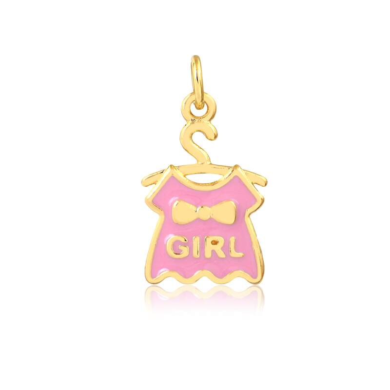 Pingente It´s a Girl - Banho Ouro