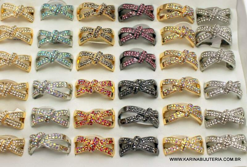 Anel Linha Strass Deluxe  M6  AN1368