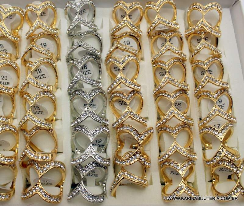 Anel Linha Strass Deluxe  M10  AN1372
