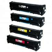 Kit 4 Cores Toner Hp CF210 211 212 213 131a CE320 321 322 323 128A CB540 541 542 543 125A  UNIVERSAL.