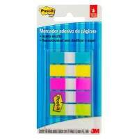BLOCO ADESIVO POST IT FLAGS 5 CORES 11,9X43,2 SCOTCH 3M 100 FOLHAS
