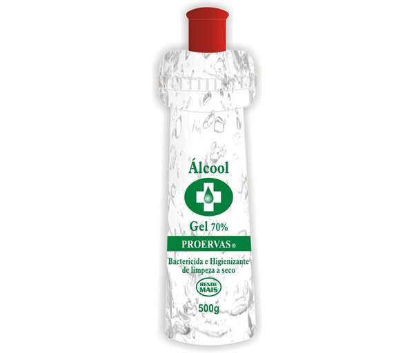 ÁLCOOL GEL 500ML 70º PROERVAS