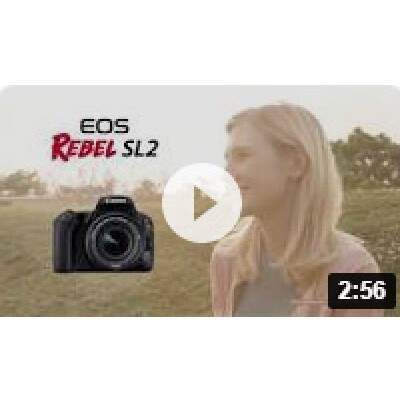 Camera Canon SL2 com Lente 18-55 IS STM