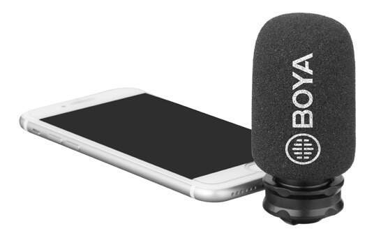 Microfone Estéreo Digital Boya By-dm200 para iPhone e iPad