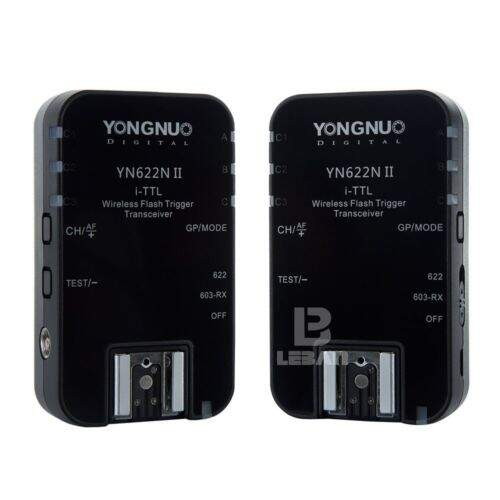 Kit Radio Flash Yongnuo YN622N II i-TTL para Nikon