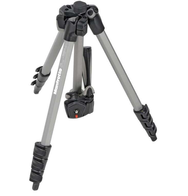 Tripé Manfrotto Mk393-h Kit P/ Foto e Vídeo