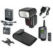 Kit Flash Godox V850 Universal Completo (Bateria + Carregador + Rádio Flash)