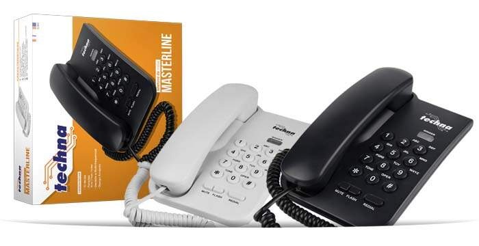TELEFONE MASTERLINE BRANCO - TL-050 - TECHNA