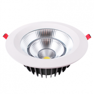 LUMINARIA DOWNLIGTH CIRCULAR 7W COB BRANCA FRIA EMBUTIR - GD-TD0703 - GOOD LIGHTING