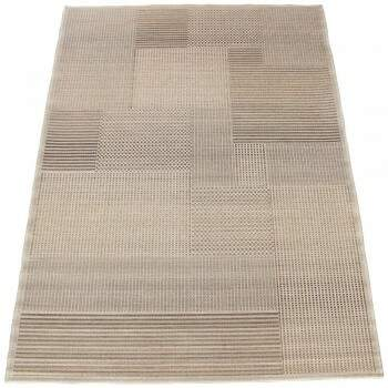 Tapete Sisal Egípcio Angie Patchwork Bege 1,60 x 2,30m
