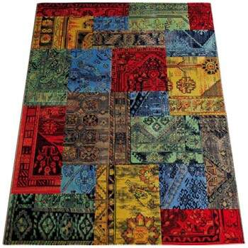 Tapete Moderno Patchwork Colorido 2,50 x 3,50m