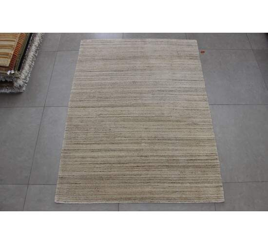 Tapete Moderno Indiano Ritz Natural Feito a Mão Bege 1,50 x 2,00m