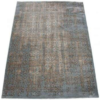 Tapete Turco Moderno Jade Reloaded Azul Bege 4,00 x 5,00m