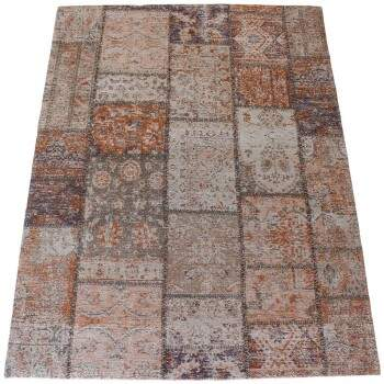 Tapete Kilim Patchwork Reloaded Laranja 3,00 x 3,00m