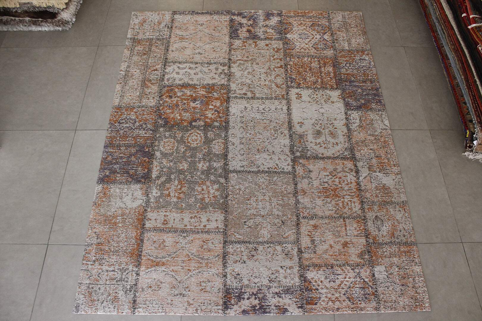 Tapete Kilim Patchwork Reloaded Laranja 3,00 x 4,00m