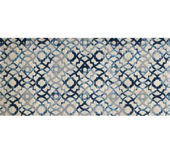 Tapete Turco Moderno London Reloaded Azul 1,50 x 1,50m