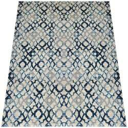 Tapete Turco Moderno London Reloaded Azul 2,00 x 2,50m