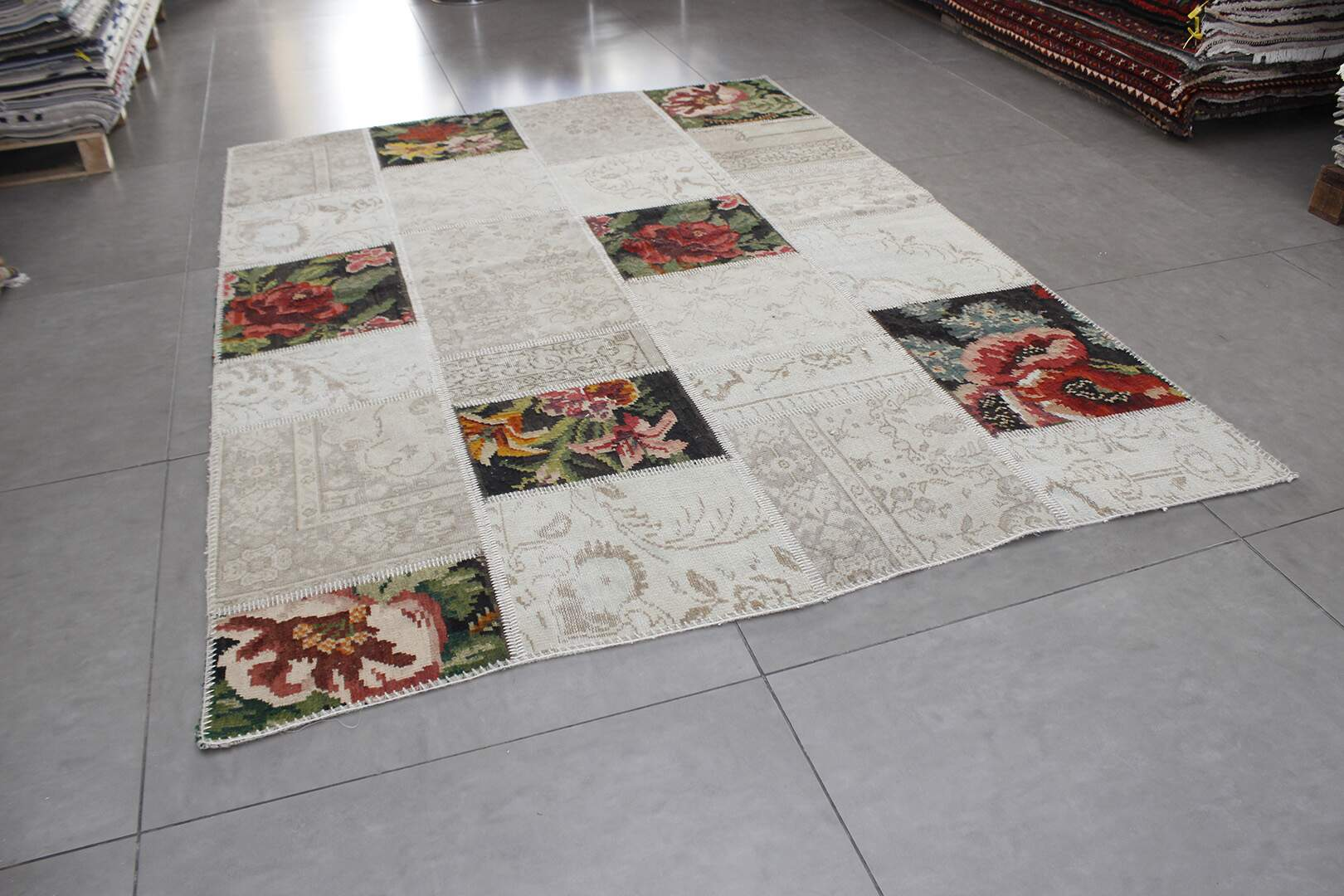 Tapete Turco Reloaded Patchwork Aubusson Francês 1,82 x 2,43m