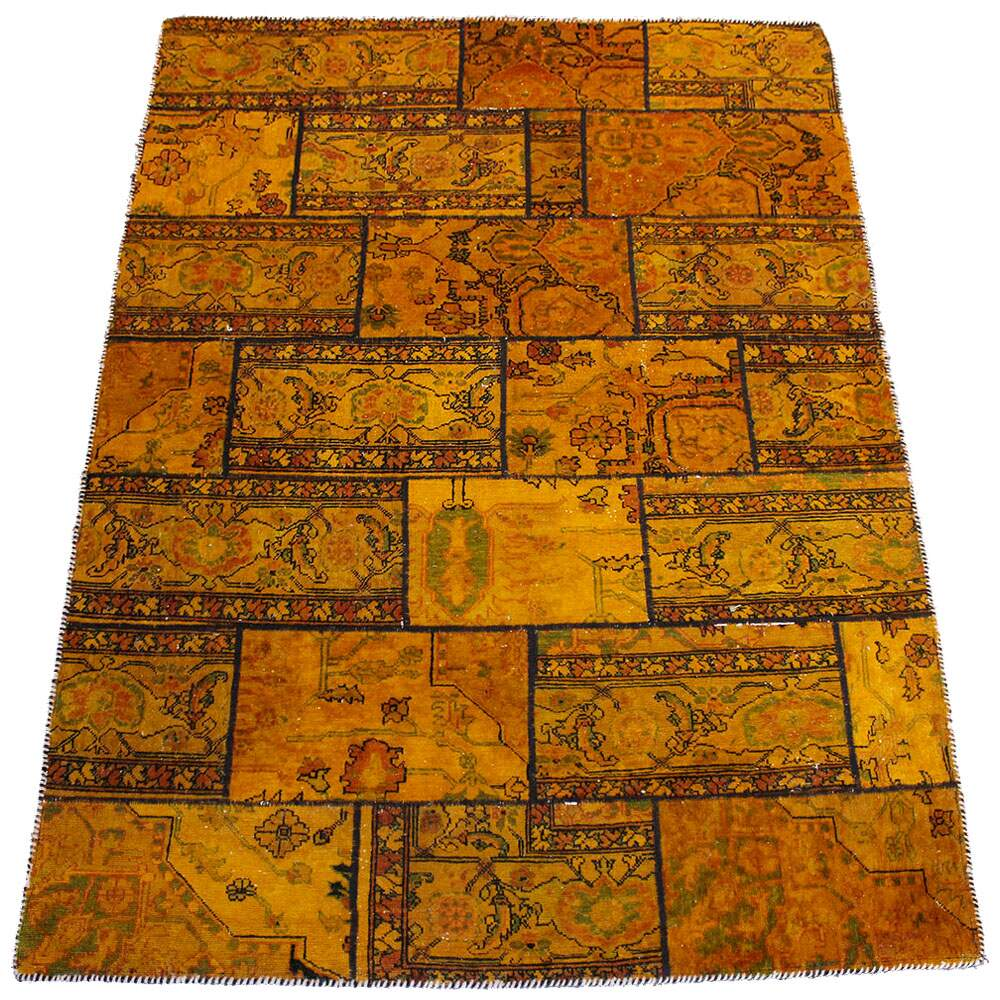 Tapete Persa Reloaded Vintage Patchwork Amarelo 1,40 x 2,05m