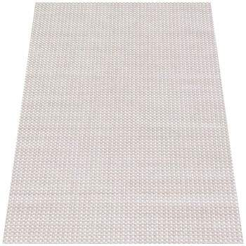 Tapete Turco Sisal Moderno Geométrico Small Cubes Bege 2,50 x 3,50m