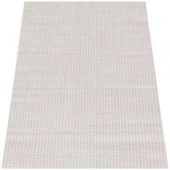 Tapete Turco Sisal Moderno Geométrico Small Cubes Bege 3,00 x 4,00m