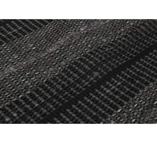 Tapete Indiano Moderno Cyclo Borracha Reciclada Preto 2,00 x 2,50m