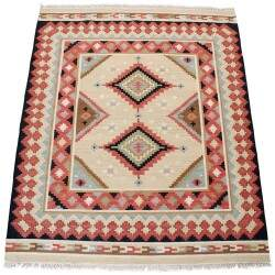Tapete Indiano Persa Kilim Persian Bege 2,05 x 2,46m