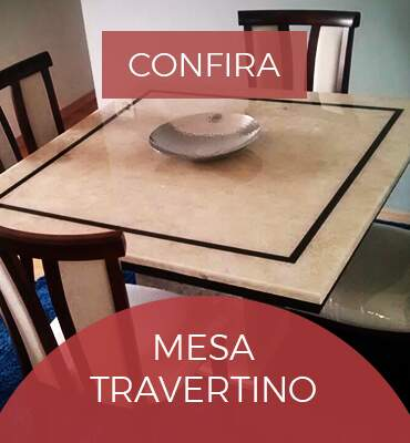 mesa de marmore travertino