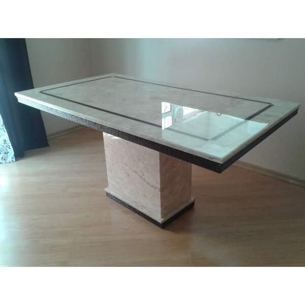 Mesa de Mármore Travertino modelo Quarteira