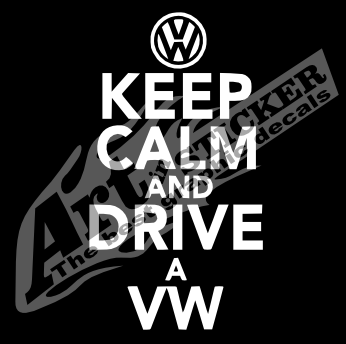 Adesivo Keep calm and drive a vw